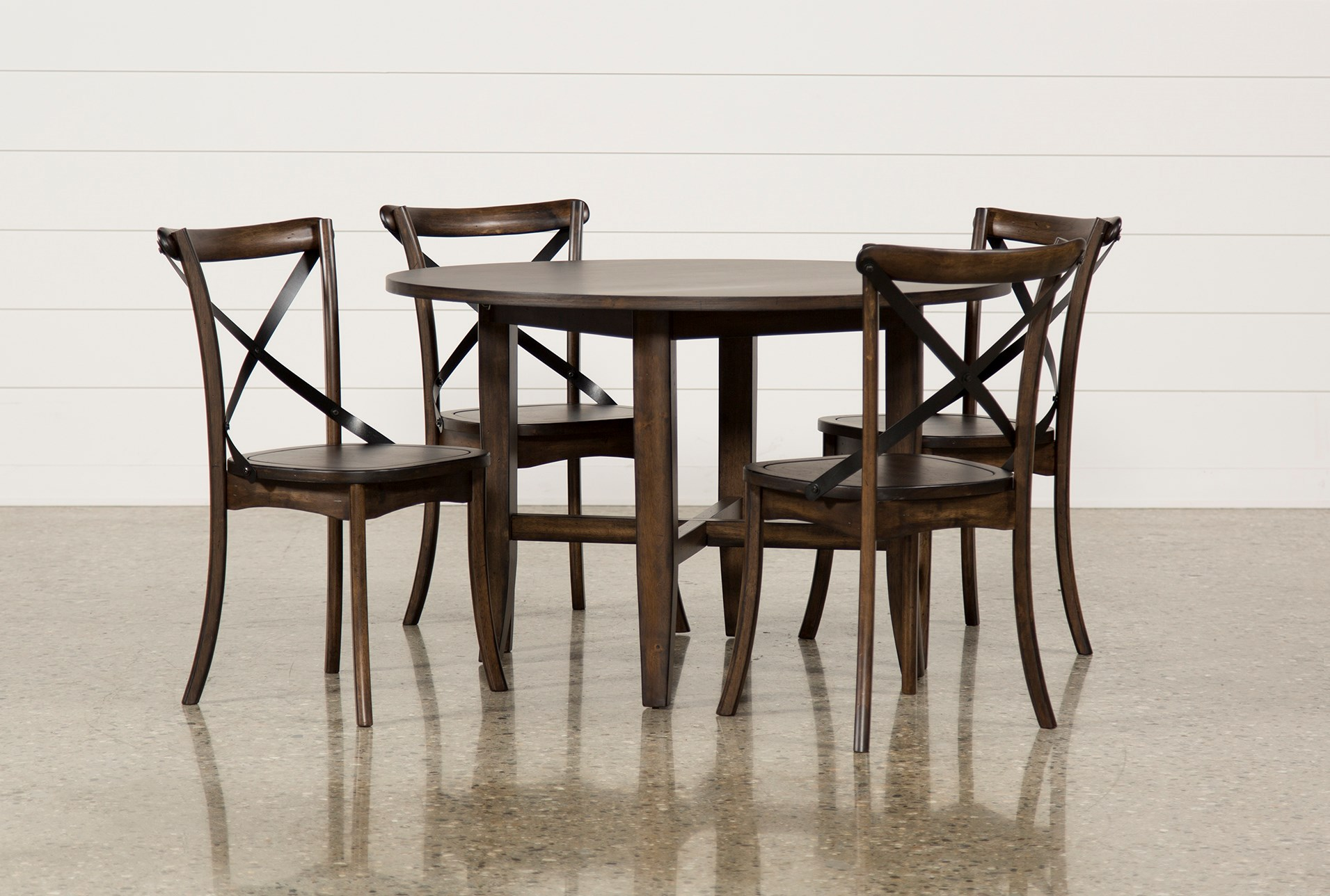Grady 5 Piece Round Dining Set Living Spaces