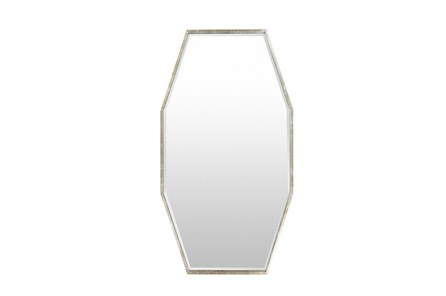 Mirror-Long Octagon Silver 30X55
