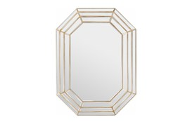 Mirror-Triple Layre Octagon Champagne 40X30