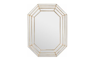 Mirror-Triple Layre Octagon Champagne 40X30