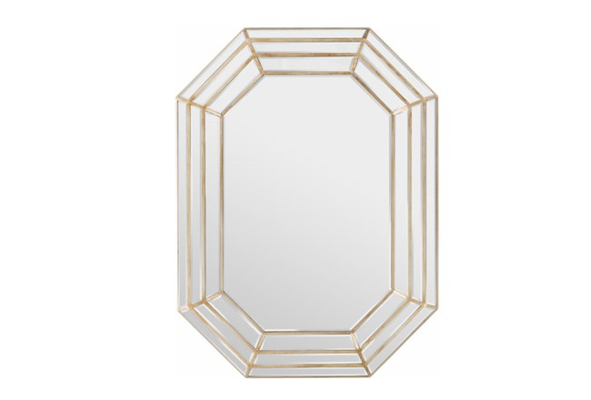 Mirror-Triple Layre Octagon Champagne 40X30 - 360