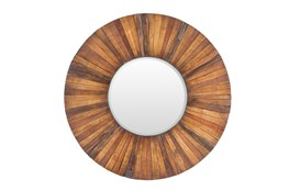 Mirror-Reclaimed Wood 36X36