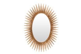 Mirror-Antiqued Goldtone 30X42