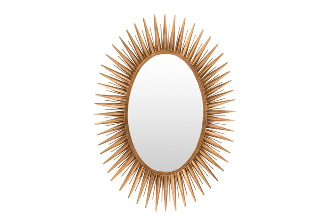 Mirror-Antiqued Goldtone 30X42 - 360