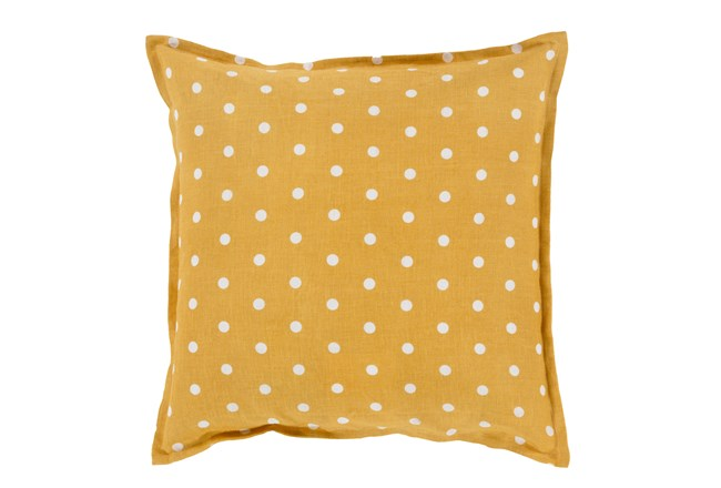 Promo Pillow- Yellow/White Polka Dot 18X18 - 360