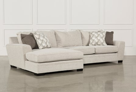 small sectional with chaise Delano 2 Piece Sectional W/Laf Oversized Chaise | Living Spaces small sectional with chaise