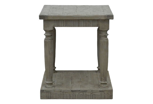 Natural Grey Side Table - 360