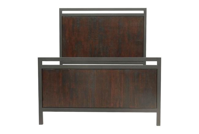 Chestnut & Cobre Queen Panel Bed - 360