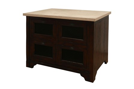 Chestnut & Cobre Kitchen Island - Main