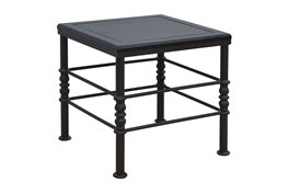 Flat Black & Cobre Side Table