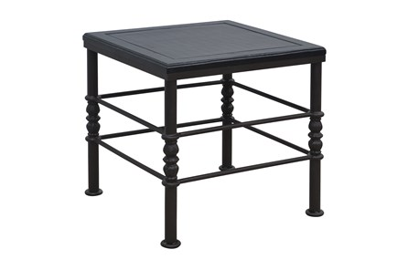 Flat Black & Cobre Side Table - Main