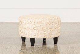 Adler Fabric Small Round Ottoman
