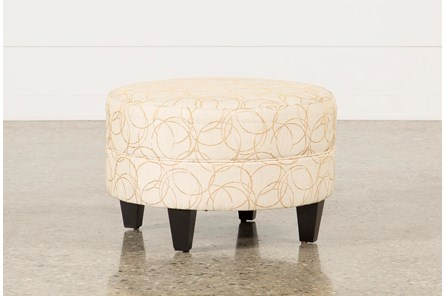 Adler Fabric Small Round Ottoman - Main