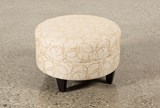 Adler Fabric Small Round Ottoman - Back