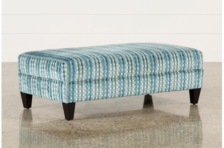 Adler Fabric Medium Rectangle Ottoman - Main