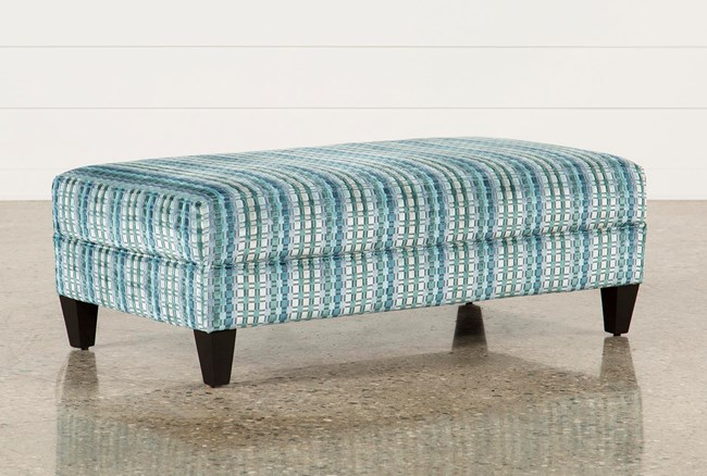 Adler Fabric Medium Rectangle Ottoman - 360