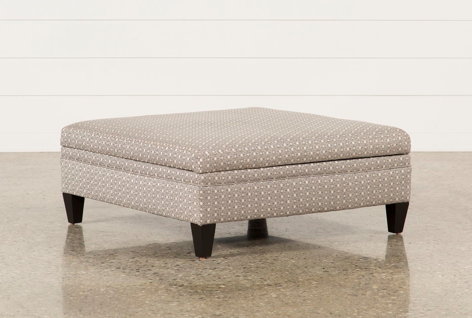 Adler Fabric Large Square Storage Ottoman Qty 1 Has Been Successfully Added To Your Cart