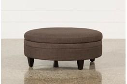 Adler Fabric Large Round Storage Ottoman