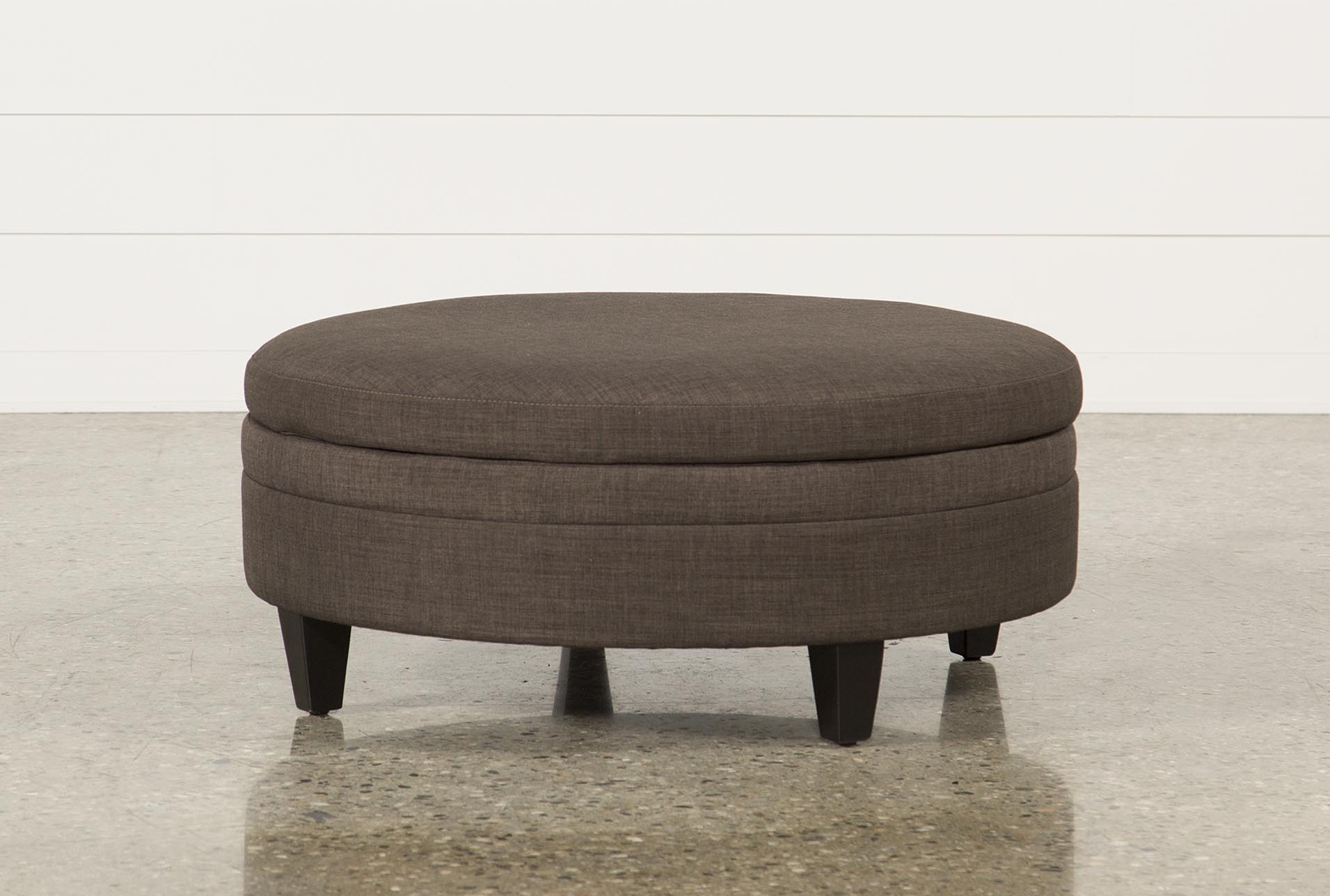Adler Fabric Large Round Storage Ottoman (Qty: 1) Has Been Successfully  Added To Your Cart.