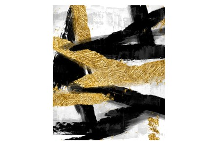 Picture-Black And Gold Abstract - Main