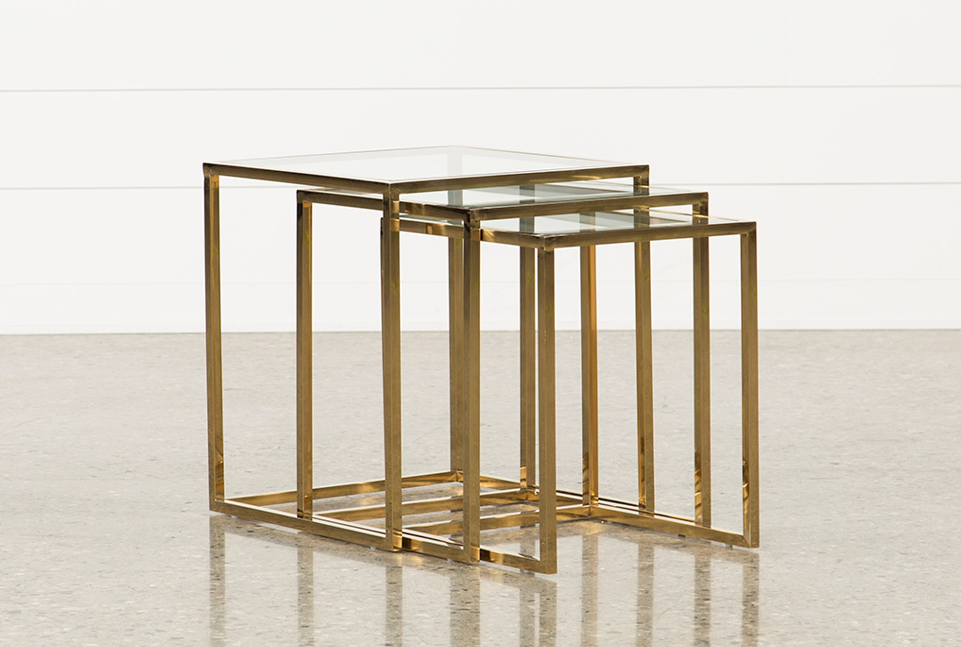 nesting tables. added to cart. calins 3 piece nesting tables