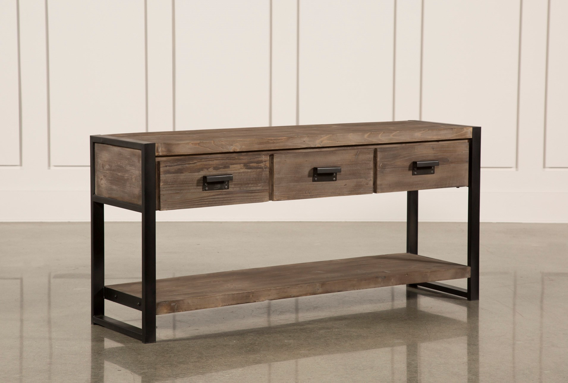 Prescott sofa table living spaces for Living spaces sofa table