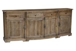 Distressed Natural 4-Door/4-Drawer Sideboard