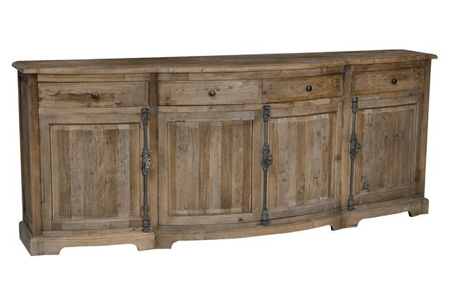 Distressed Natural 4-Door/4-Drawer Sideboard - 360