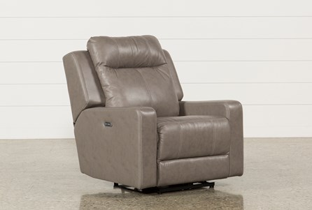 Sequoia Sable Leather Power Wallaway Recliner W/Adjustable Headrest