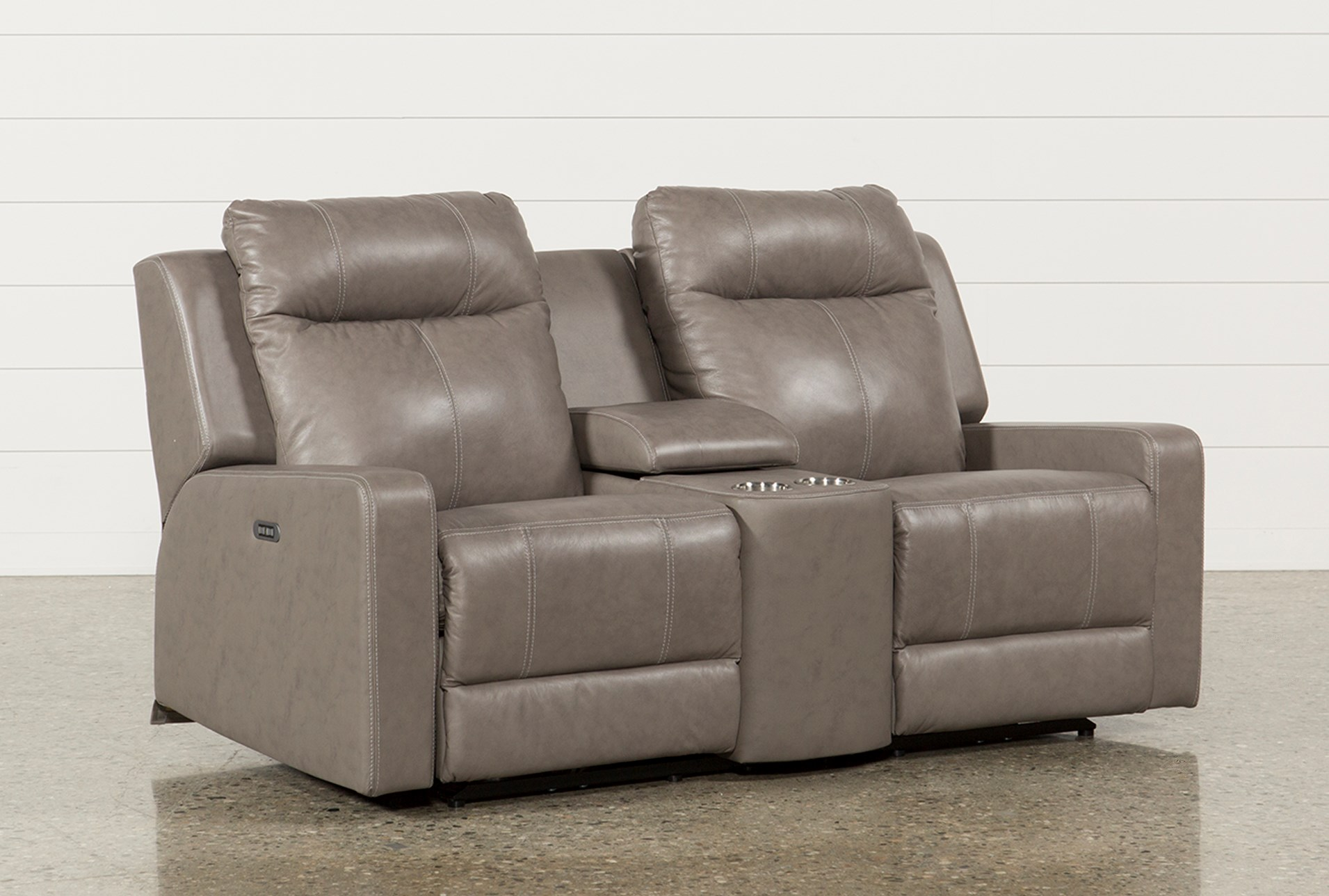Sequoia Sable Leather Dual Power Reclining Sofa W Adjustable  ~ Leather Dual Reclining Sofa