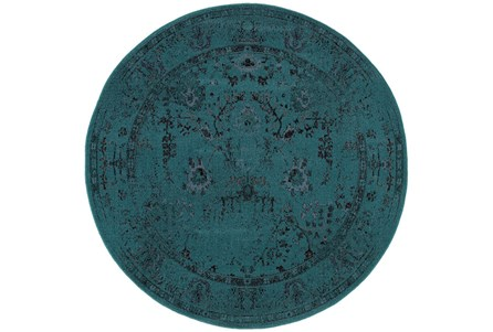 92 Inch Round Rug-Kateri Turquoise