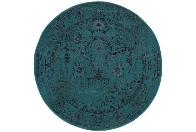 92 Inch Round Rug-Kateri Turquoise - 360