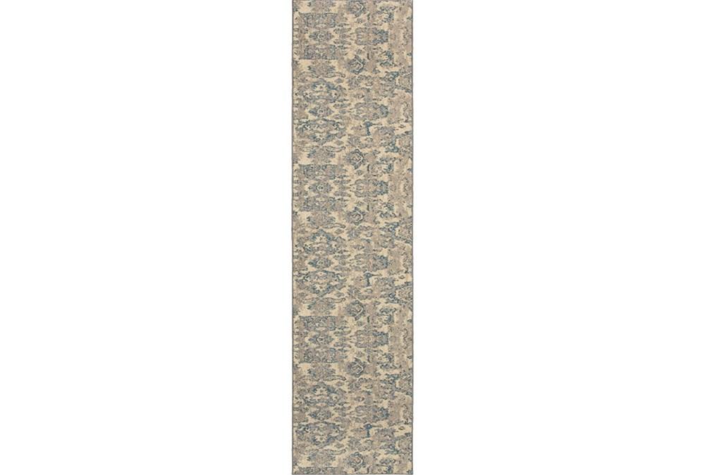 """2'6""""x10' Rug-Vincent Aqua Ikat"""