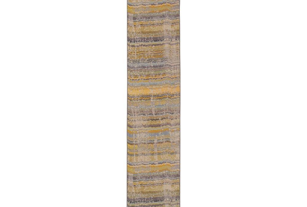31X120 Rug-Ravi Stripes Blue