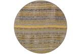 92 Inch Round Rug-Ravi Stripes Blue - Signature