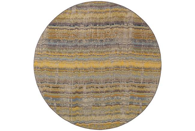 92 Inch Round Rug-Ravi Stripes Blue - 360