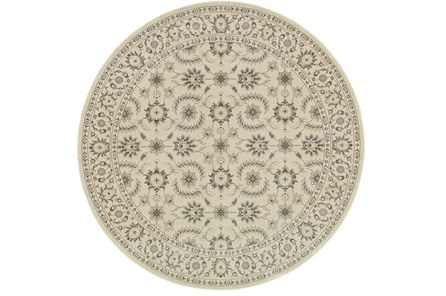 94 Inch Round Rug-Corinthian Taupe