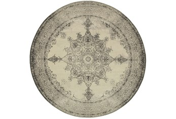 """7'9"""" Round Rug-Picabo Charcoal"""