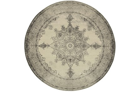 94 Inch Round Rug-Picabo Charcoal - Main