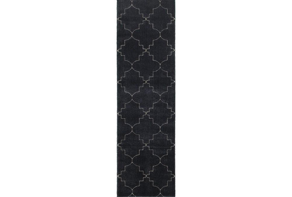 27X90 Rug-Modern Moroccan Indigo