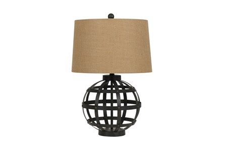 Table Lamp-Iron Globe - Main