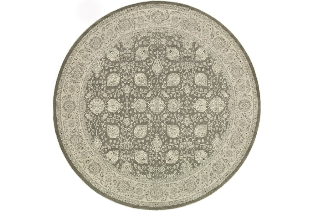 """6'6"""" Round Rug-Guinevere Charcoal"""