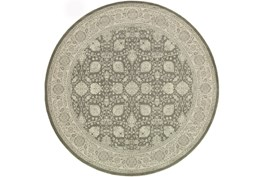 79 Inch Round Rug-Guinevere Charcoal