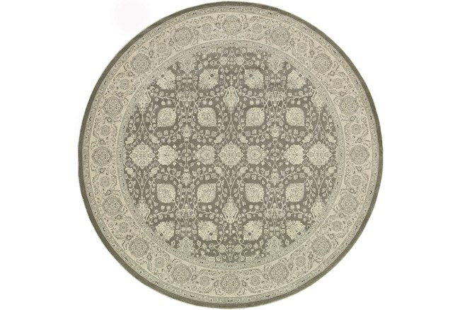 """6'6"""" Round Rug-Guinevere Charcoal - 360"""