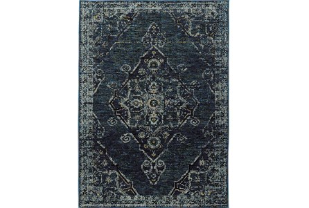 94X130 Rug-Adarra Moroccan Indigo