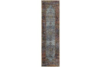 27X96 Rug-Harriet Moroccan Blue