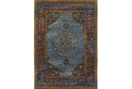 79X114 Rug-Harriet Moroccan Blue
