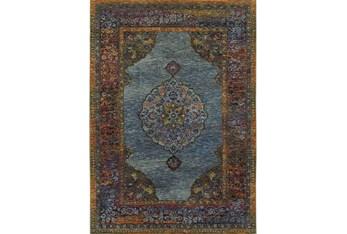 """6'6""""x9'5"""" Rug-Harriet Moroccan Blue"""