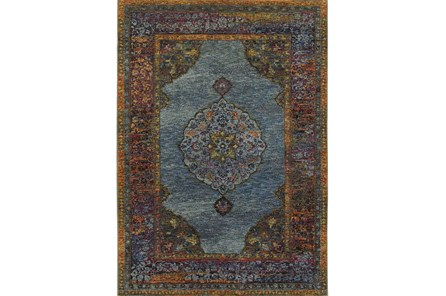 94X130 Rug-Harriet Moroccan Blue