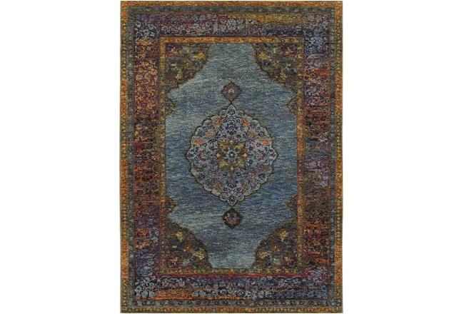 94X130 Rug-Harriet Moroccan Blue - 360